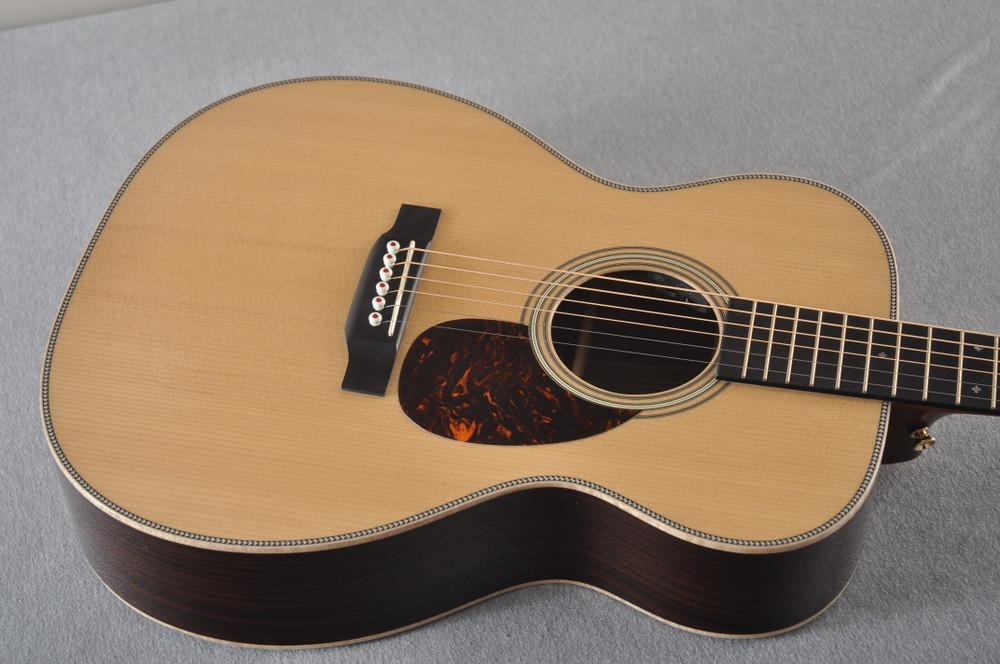 Martin OM-28E Modern Deluxe Fishman Electric Guitar #2345324 - Top Angle