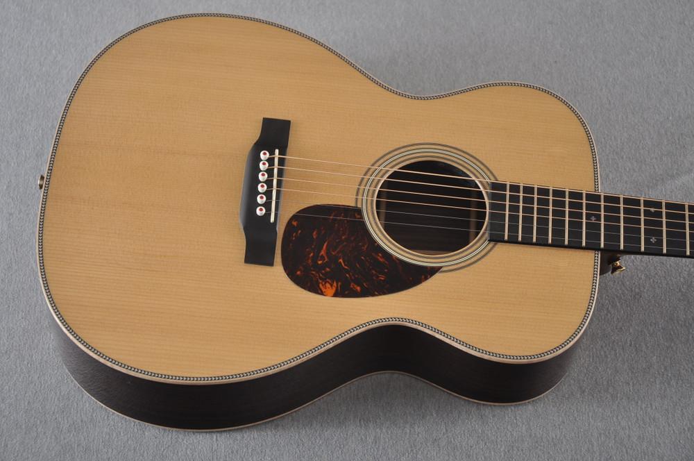 Martin OM-28E Modern Deluxe Fishman Electric Guitar #2345324 - Top