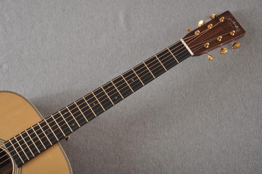 Martin OM-28E Modern Deluxe Fishman Electric Guitar #2345324 - Neck