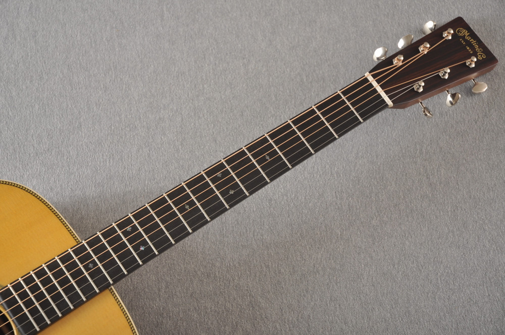 Martin OM-28 Orchestra Model Acoustic Guitar #2354437 - Neck