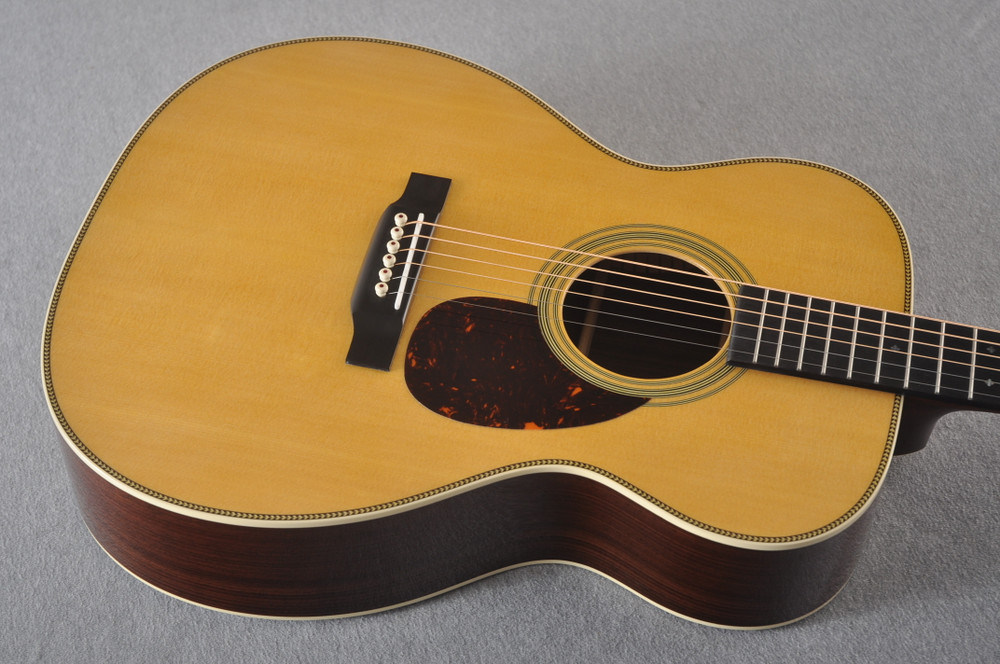Martin OM-28 Orchestra Model Acoustic Guitar #2360640 - Top Angle