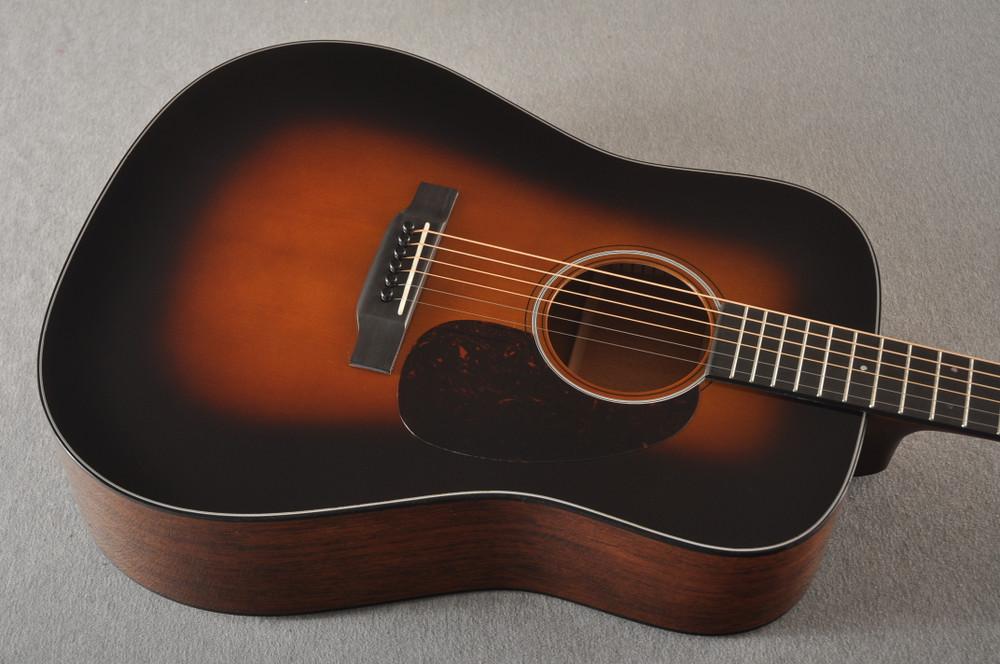 Martin Custom Dread Style 18 Adirondack Sunburst Guitar #2360909 - Top