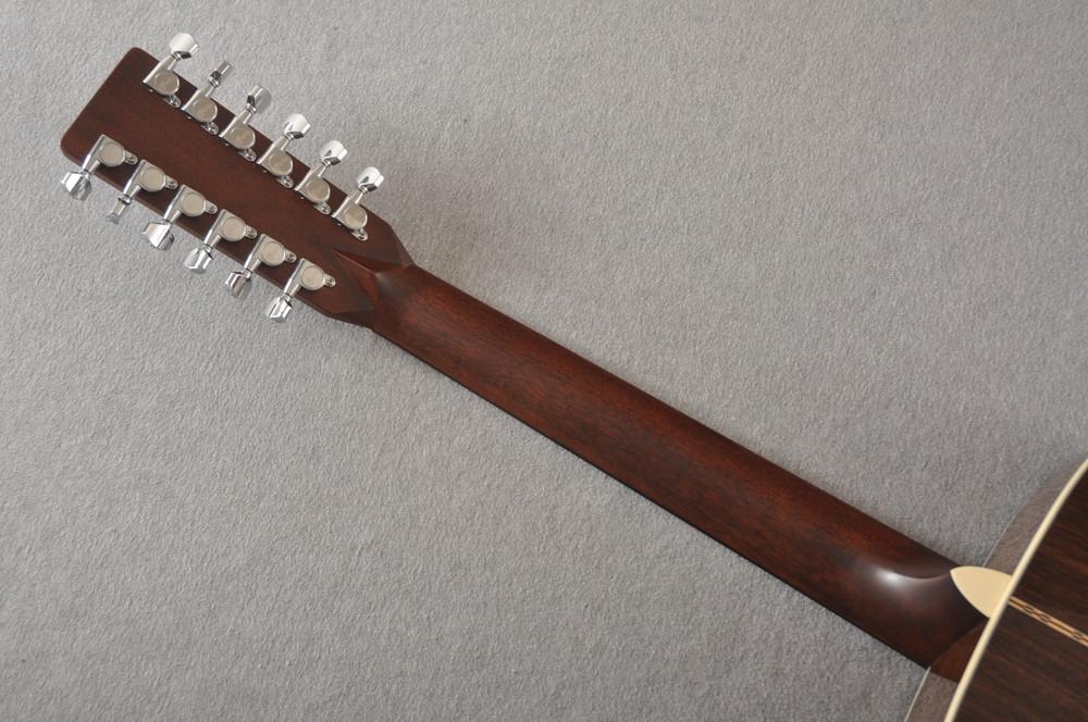 Martin Custom D12 12 String Style 28 Adirondack Sunburst #2372956 - Back Neck