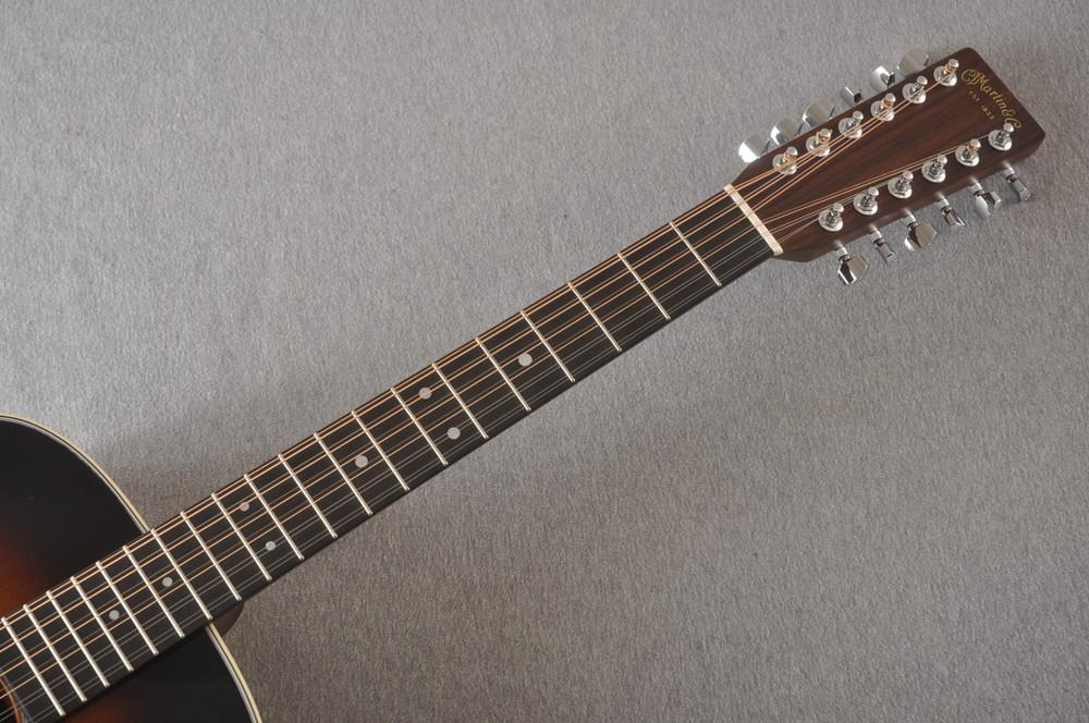 Martin Custom D12 12 String Style 28 Adirondack Sunburst #2372956 - Neck