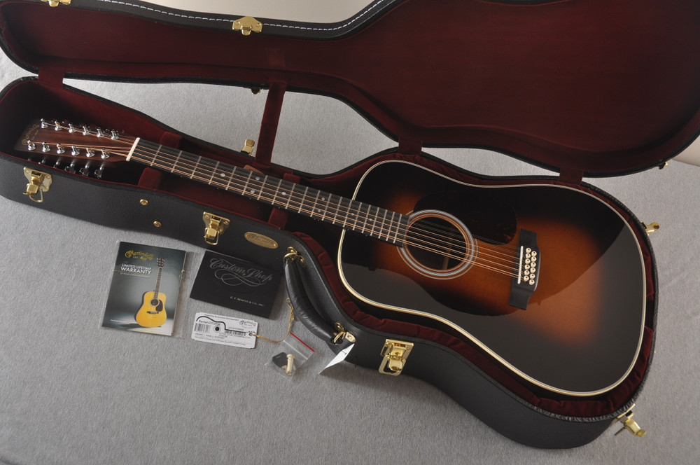 Martin Custom D12 12 String Style 28 Adirondack Sunburst #2372956 - Case