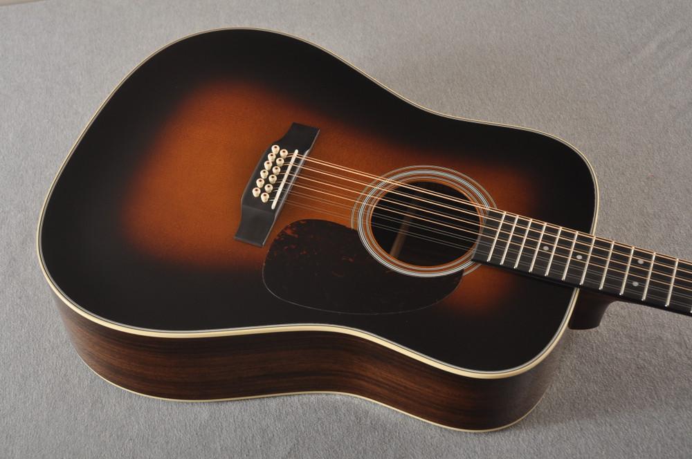 Martin Custom D12 12 String Style 28 Adirondack Sunburst #2372956 - Top Angle