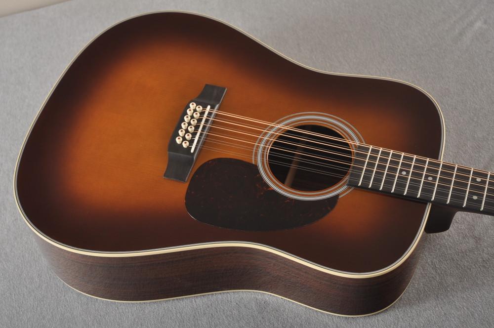 Martin Custom D12 12 String Style 28 Adirondack Ambertone #2371549 - Top Angle