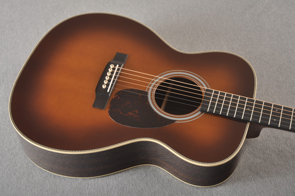 Martin OM-28 Ambertone Orchestra Model Acoustic Guitar #2377846 -Top Angle