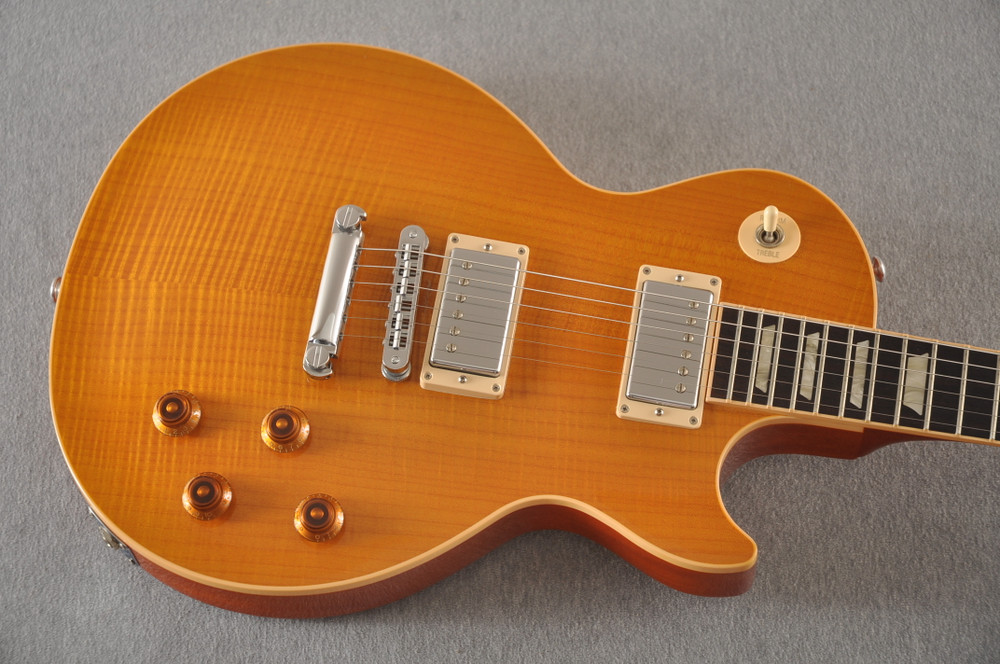 2016 Gibson Les Paul Standard Flame Top Amber #160065316 - Top