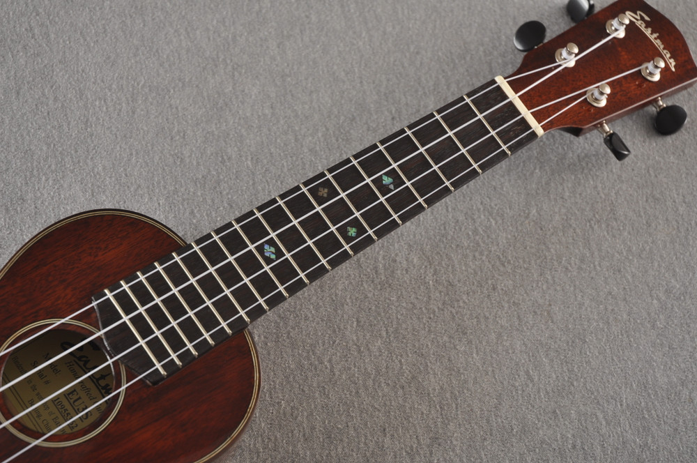 Eastman Soprano Ukulele EU3S Solid Mahogany Top Back and Sides - View 6