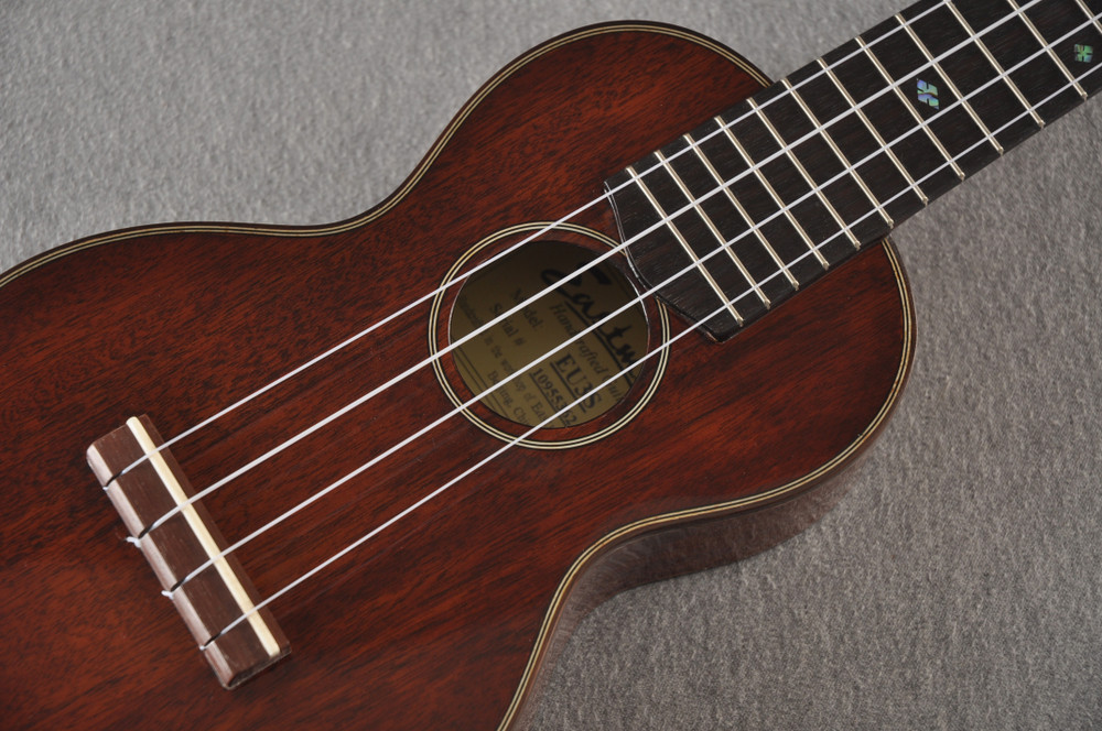 Eastman Soprano Ukulele EU3S Solid Mahogany Top Back and Sides - View 8