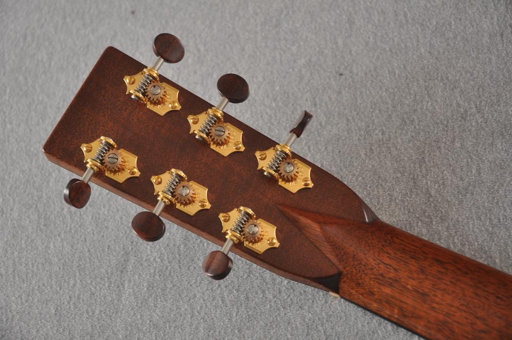 2012 Bourgeois OM DB Signature Italian Spruce Madagascar Rosewood #5852 - Back Headstock