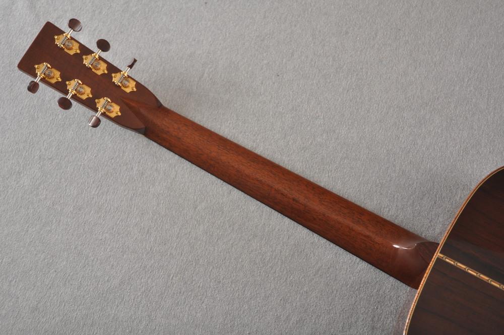 2012 Bourgeois OM DB Signature Italian Spruce Madagascar Rosewood #5852 - Back Neck