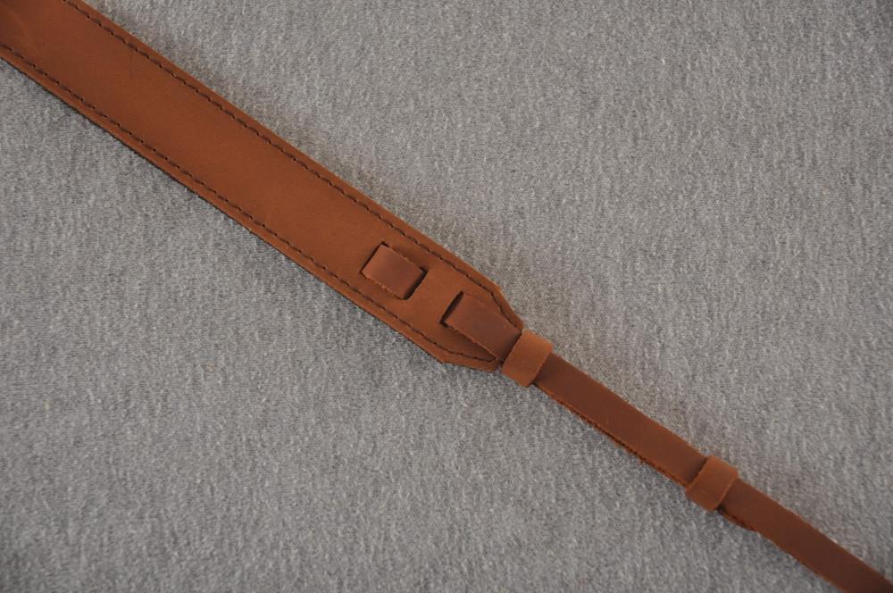 Mandolin Strap - Brown Leather - El Dorado - Made in USA