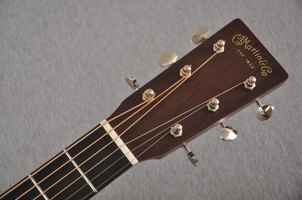 Martin Custom D Style 18 GE Adirondack Sinker Mahogany #2457205 - Headstock