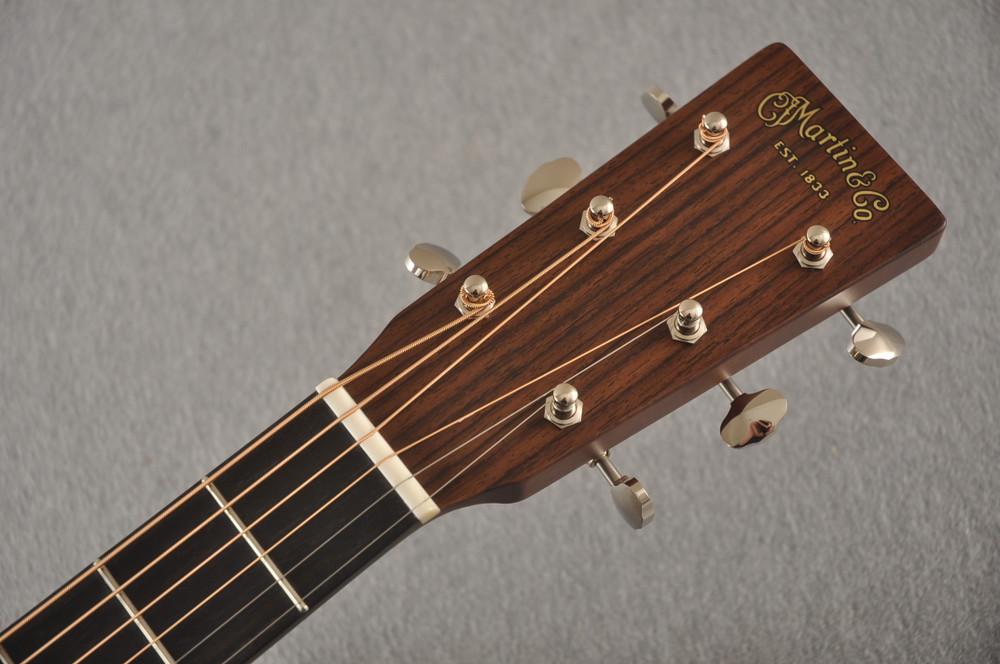 Martin Custom D Style 18 GE Adirondack Sinker Mahogany #2441720 - Headstock