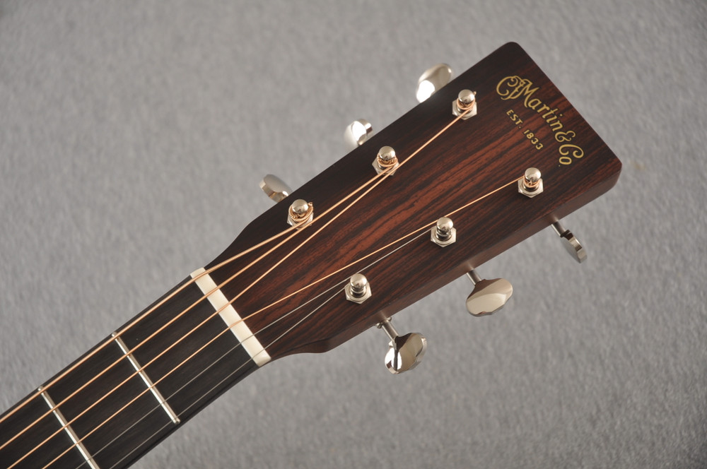 Martin Custom Dreadnought Style 18 GE Adirondack Waverly #2457204 - Headstock