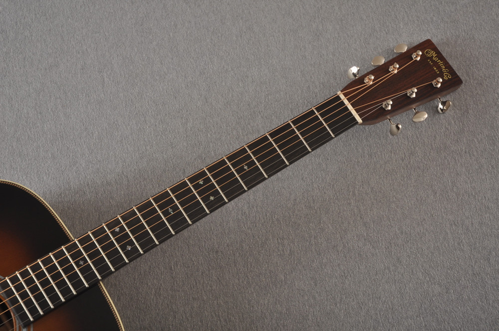 Martin Custom 000 Style 28 Adirondack Sunburst Guitar #2439240 - Neck