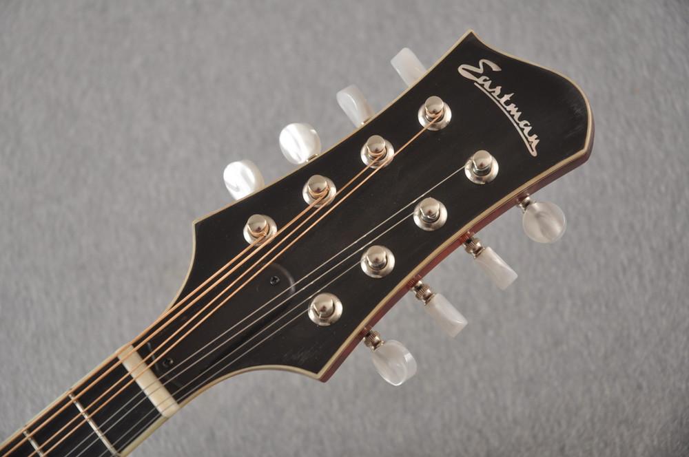 Eastman MD805/V Mandolin A Style Solid Adi Top Ebony Board - View 4