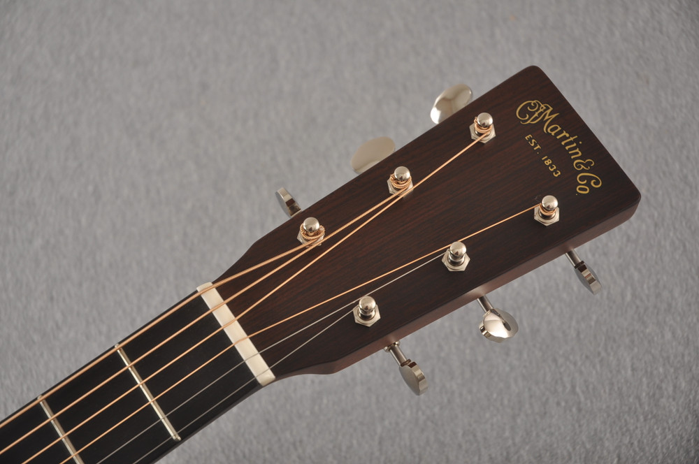 Martin Custom Dread Style 18 GE Adirondack Sinker Ambertone #2483245 - Headstock