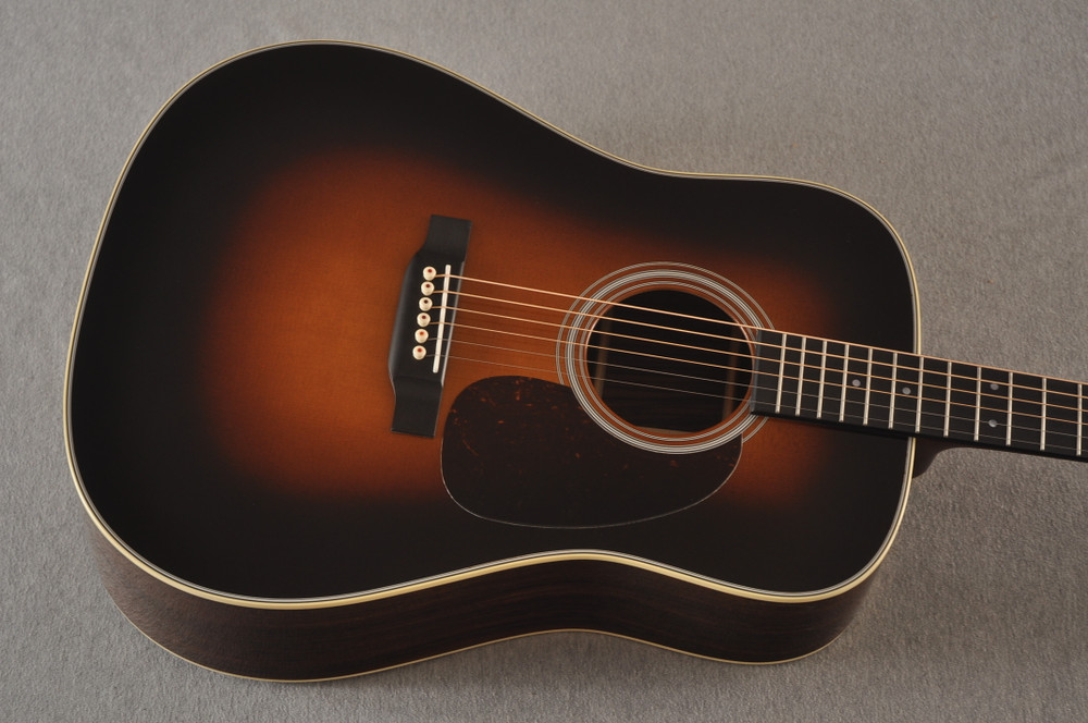 Martin D-28 Sunburst Standard Dreadnought Guitar #2522330 - Top