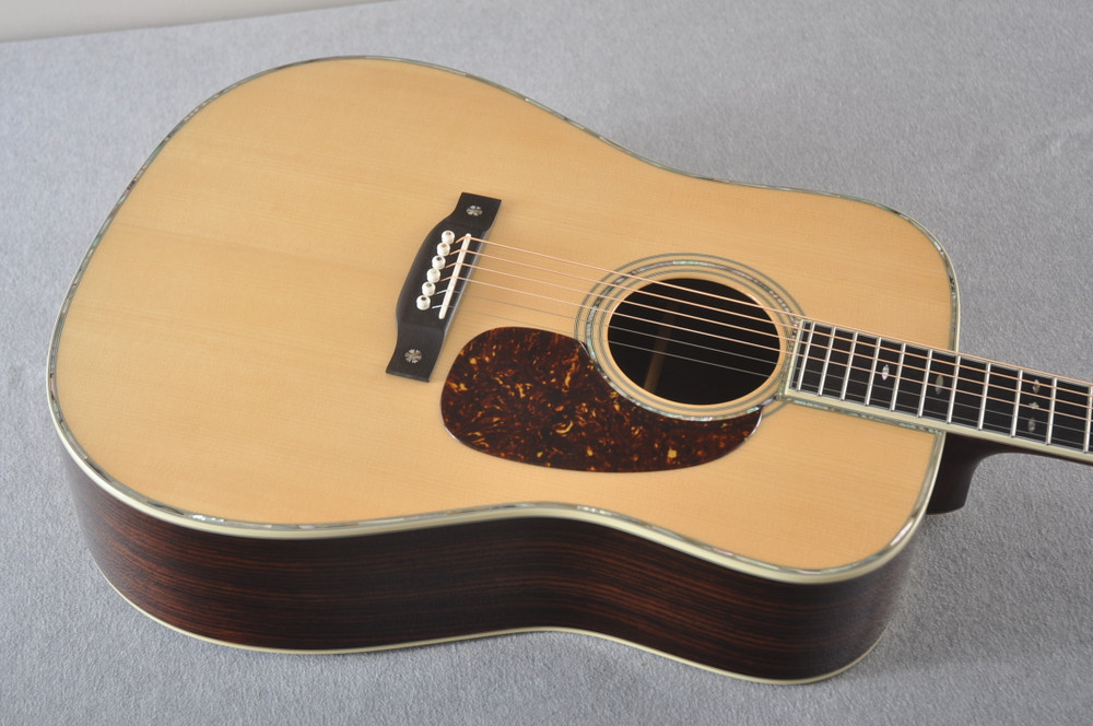 Eastman E40D Acoustic Guitar Dreadnought Adi Top Hand Scalloped - View 5