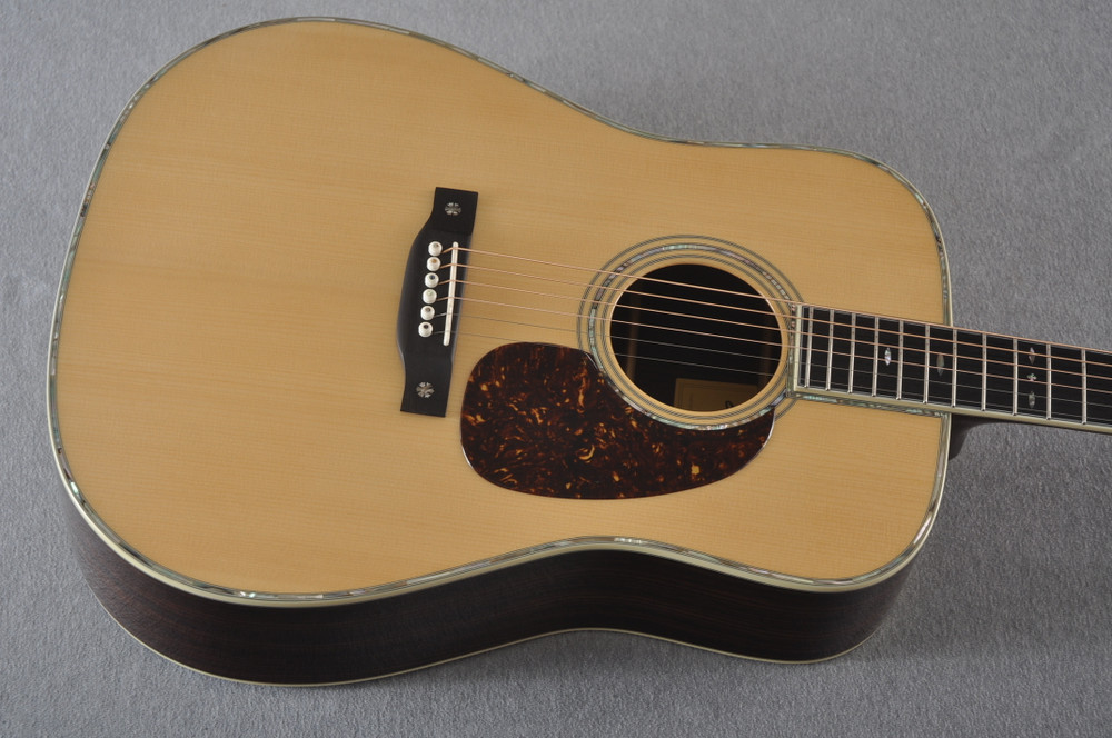 Eastman E40D Acoustic Guitar Dreadnought Adi Top Hand Scalloped - View 7