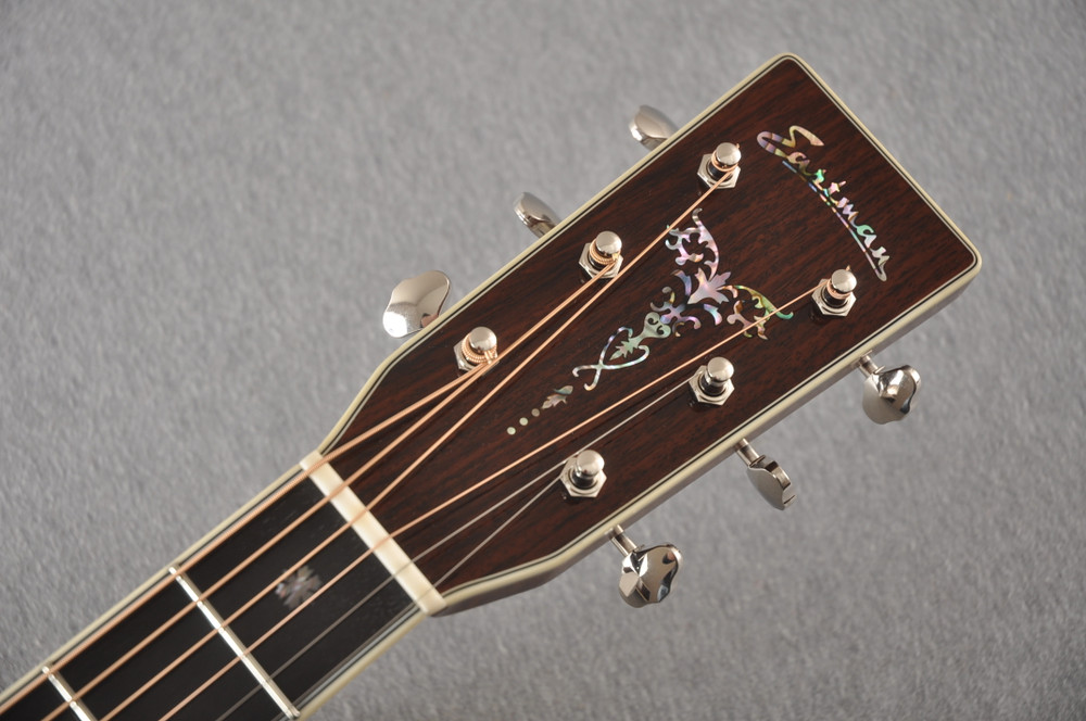 Eastman E40D Acoustic Guitar Dreadnought Adi Top Hand Scalloped - View 3