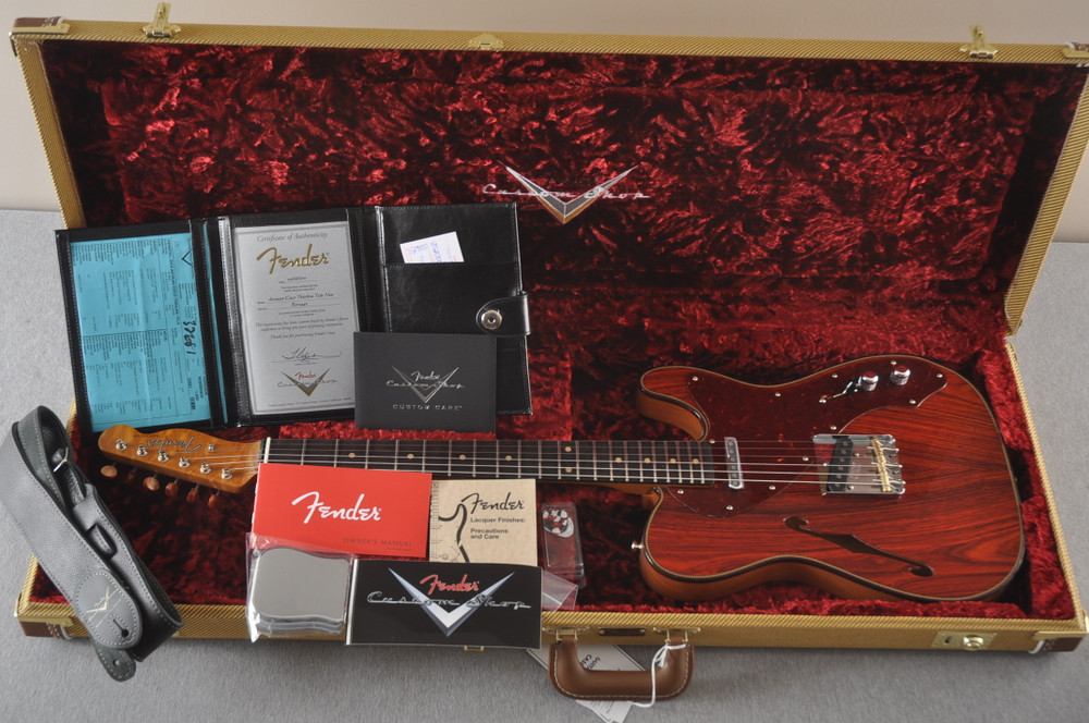 Fender Custom Shop Telecaster Thinline Artisan Cocobolo 7.44 lbs - View 2