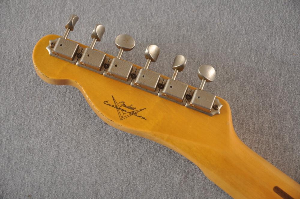 Fender Custom Shop 1957 Telecaster Journeyman Relic White Blonde - View 3