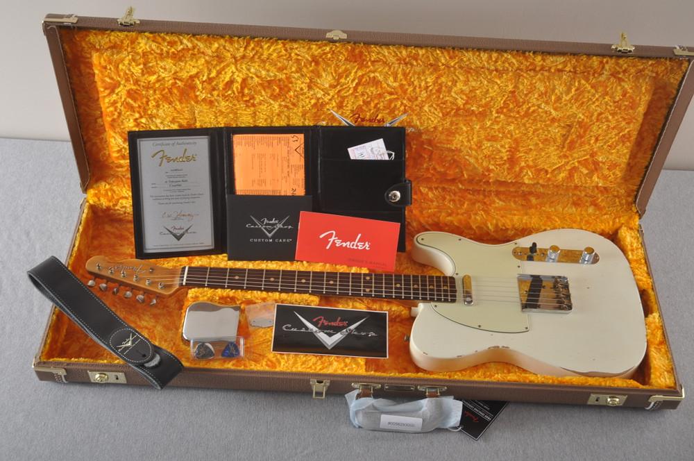 Fender Custom Shop 1961 Telecaster Relic Olympic White - View 2