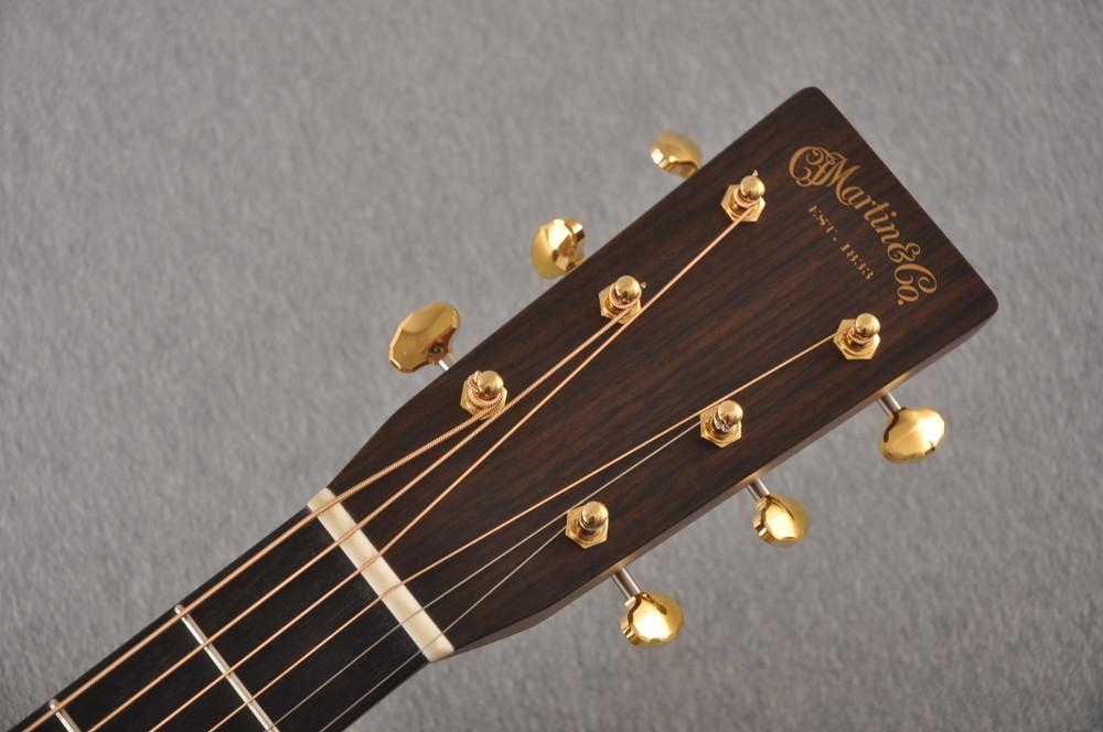 Martin Custom NAMM Figured Sinker Mahogany Dread 18 #2293406 - Headstock
