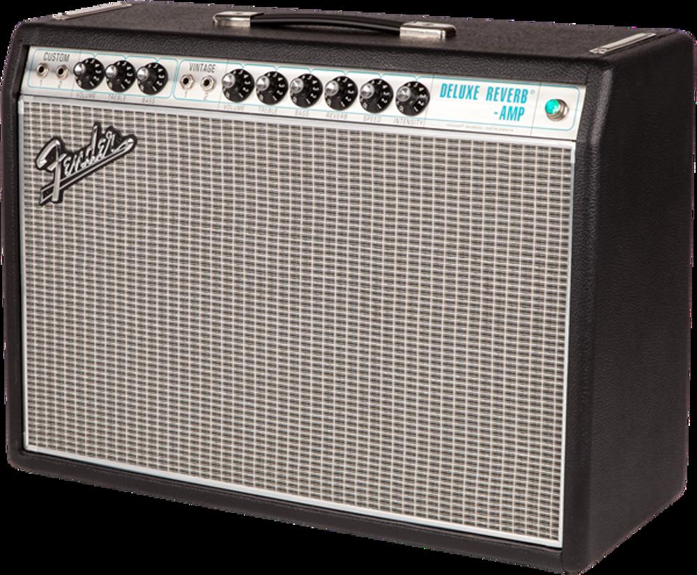 Fender '68 Custom Deluxe Reverb Tube Combo Guitar Amplifier - View 3