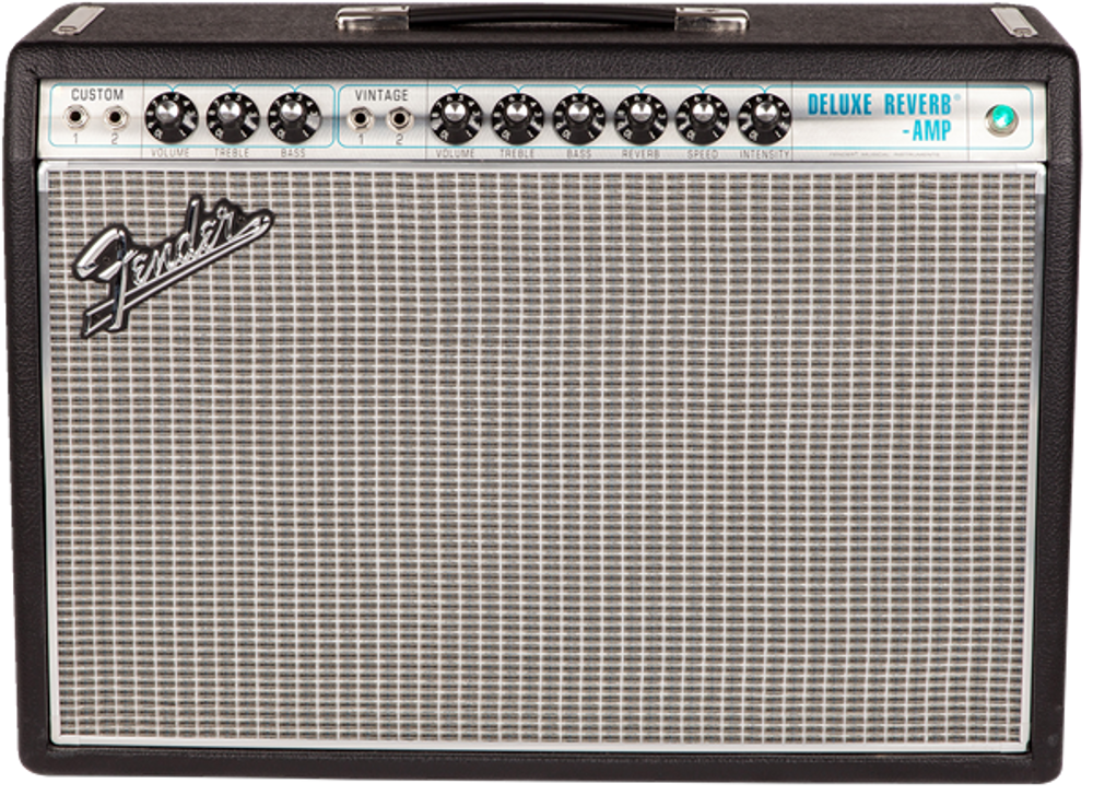 Fender '68 Custom Deluxe Reverb Tube Combo Guitar Amplifier - View 2