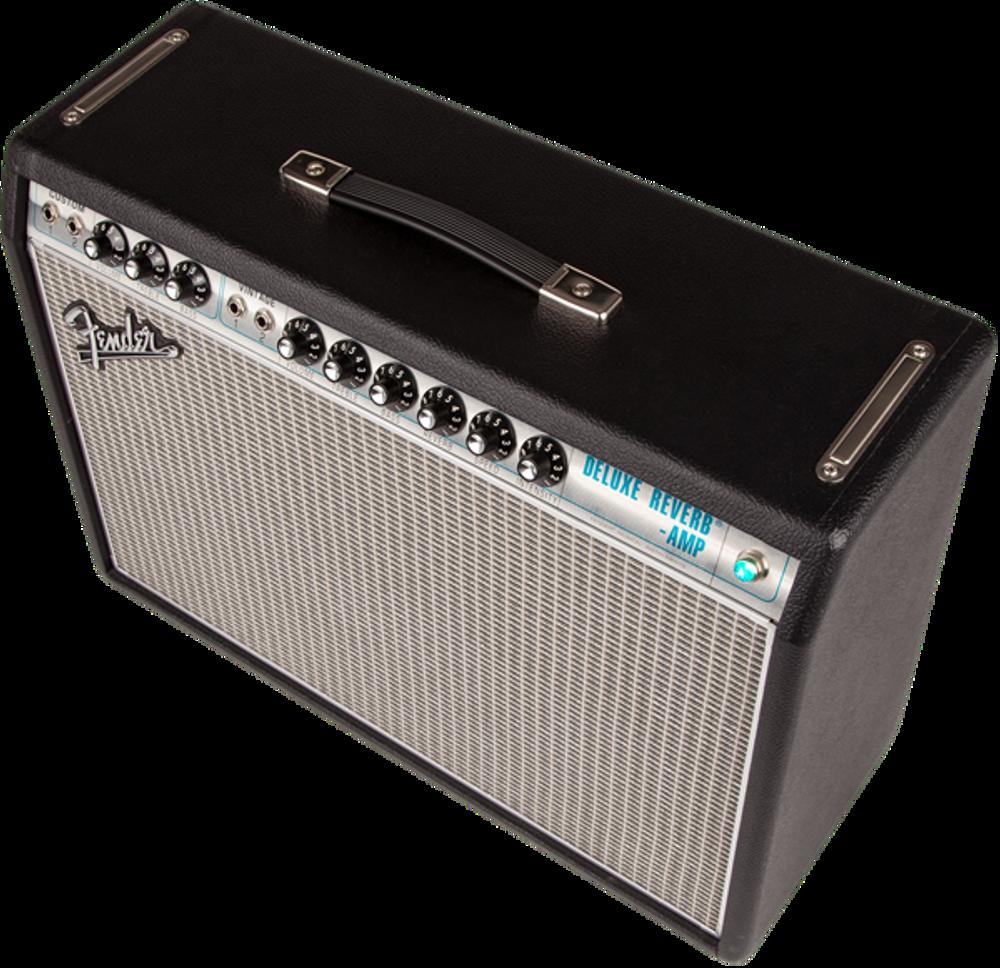 Fender '68 Custom Deluxe Reverb Tube Combo Guitar Amplifier - View 4
