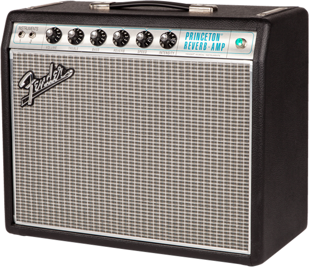 Fender '68 Custom Princeton Reverb Tube Combo Guitar Amplifier - View 3