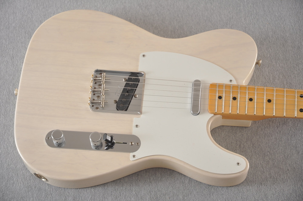 Fender Custom Telecaster Vintage 1958 Top Load Tele White Blonde - View 12