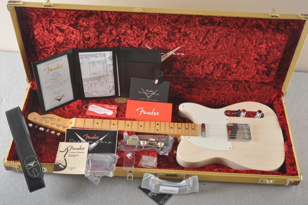 Fender Custom Telecaster Vintage 1958 Top Load Tele White Blonde - View 3