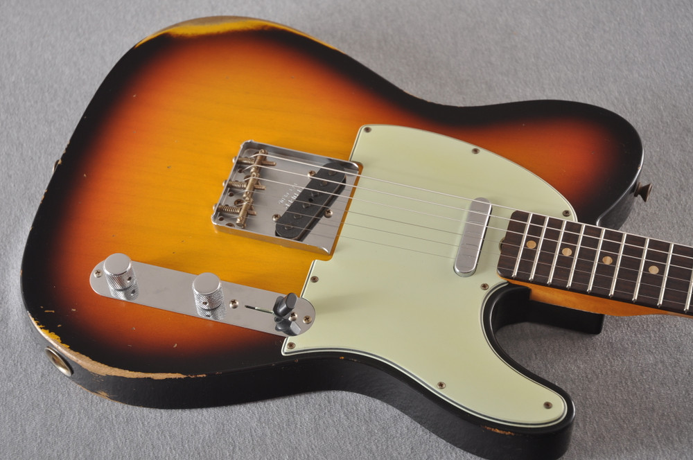 Fender Custom Shop 1961 Telecaster Relic Sunburst Texas Specials - View 9