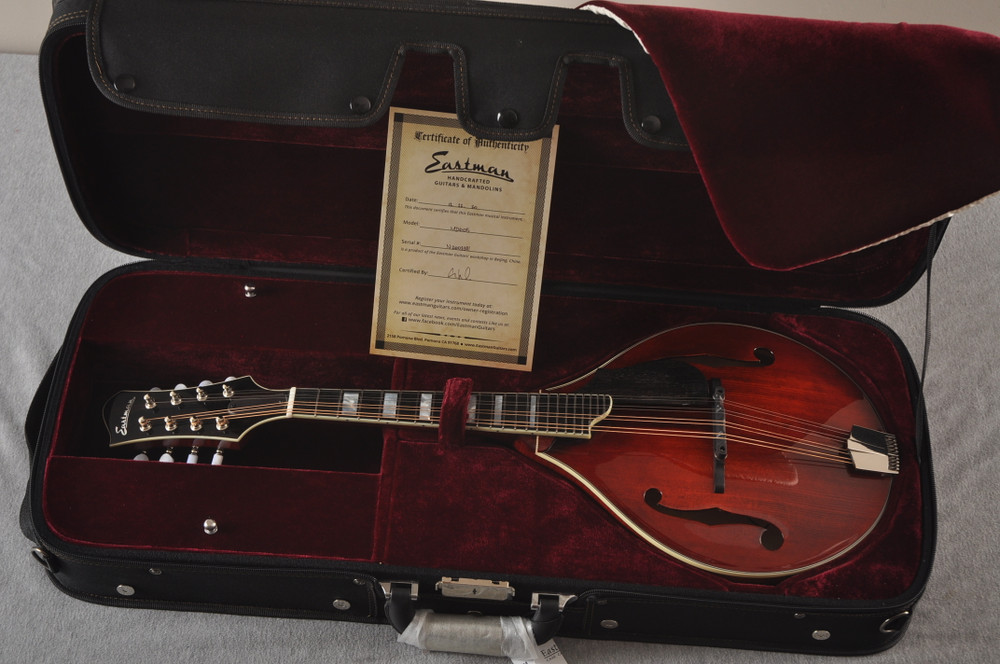 Eastman Mandolin MD605 Electric Pickup With Solid Spruce Top - View 2