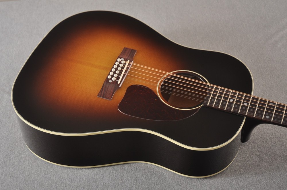 Gibson J-45 Standard 12 String Acoustic Guitar Sunburst LR Baggs - View 4