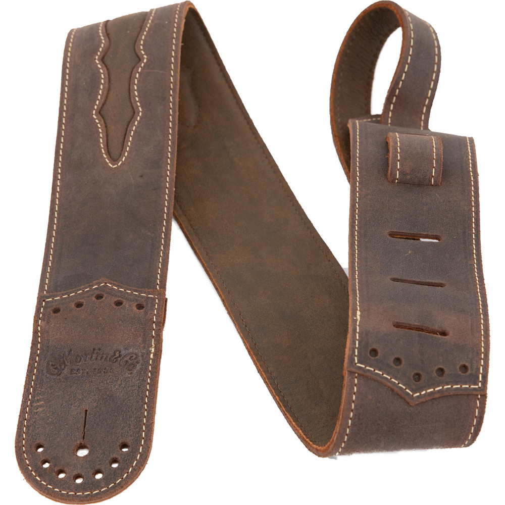 Martin Wingtip Dark Brown Leather Guitar Strap - 18A0079