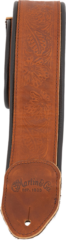 Martin Garment Leather Guitar Strap - Brown - 18A0088 - View 2