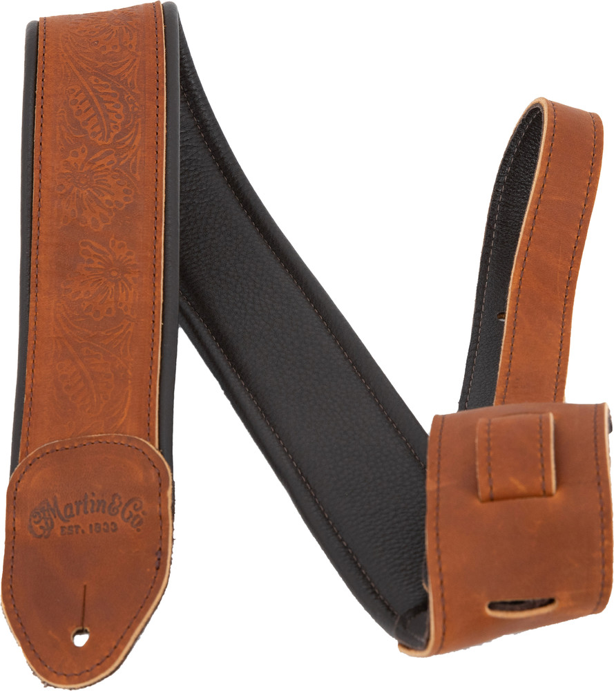 Martin Garment Leather Guitar Strap - Brown - 18A0088