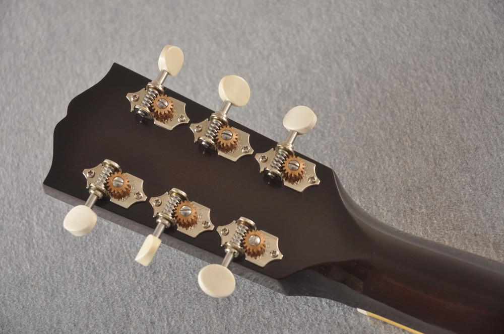 Gibson 1934 Jumbo Acoustic Guitar Adirondack Waverly Hide Glue - Back Headstock