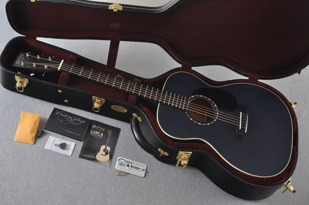 Martin Custom Shop 000-15 Navy Blue Acoustic Guitar #2109315 - Case