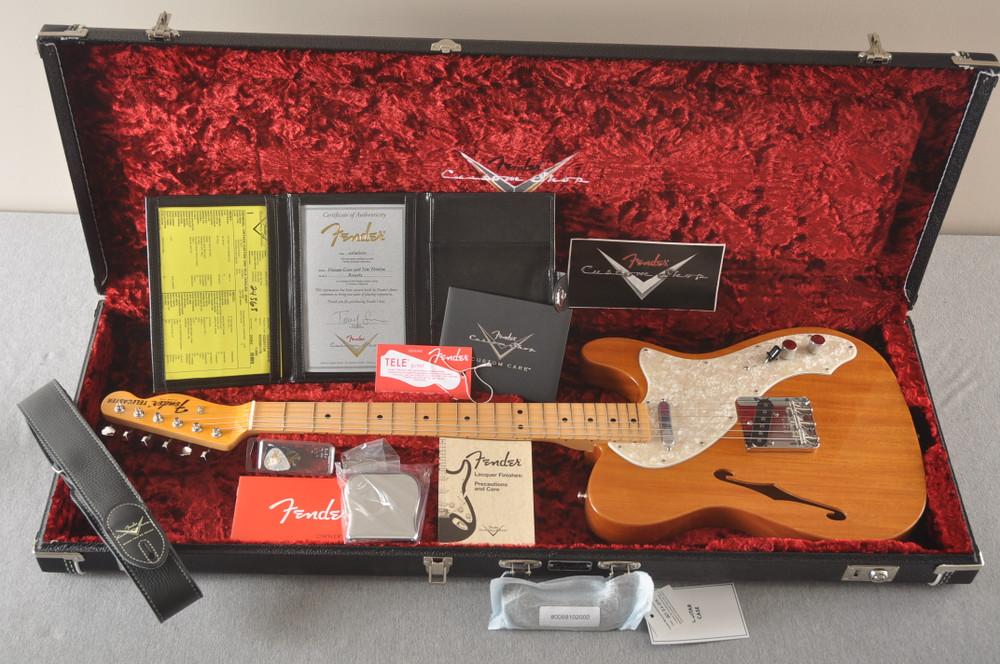 Fender Telecaster Thinline 1968 Vintage Custom Natural - View 3