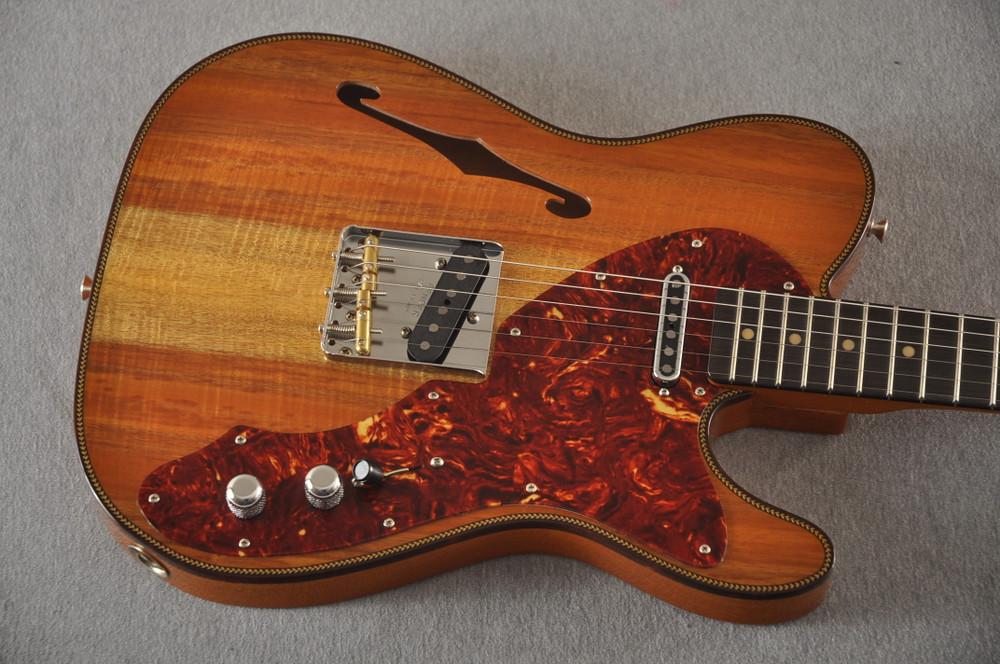 Fender Custom Shop Artisan Koa Thinline Telecaster® NOS  - View 8