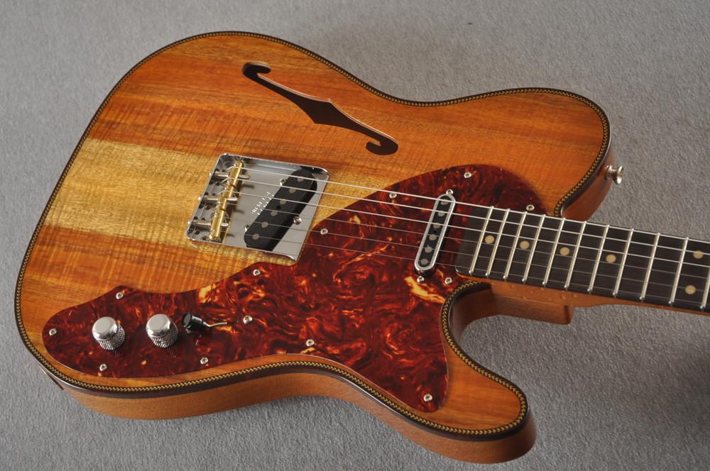Fender Custom Shop Artisan Koa Thinline Telecaster® NOS  - View 6