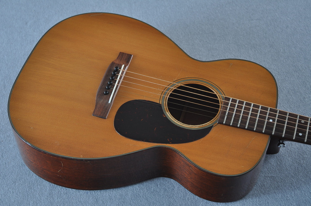 1955 Martin 0-18 Vintage Acoustic Guitar #143936 - Top